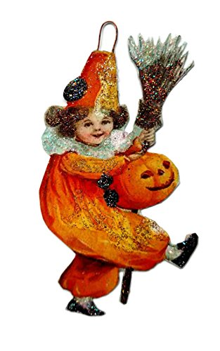 Halloween Ornament Decoration Pretty Girl in Witch Clown Costume]()