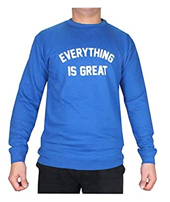 Fabienne Blue Round Neck Hoodie & Sweatshirt For Men