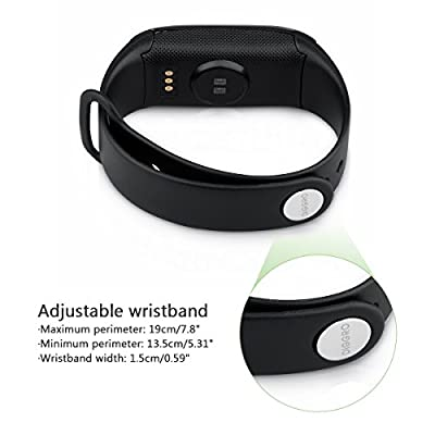 Diggro K18S Heart Rate Smart Bracelet Bluetooth Waterproof Fitness Tracker with Pedometer Calorie Sleep Monitor Call/SMS Reminder Sedentary Reminder for Android IOS