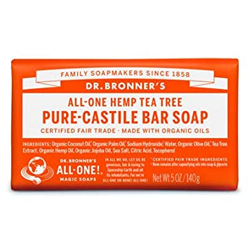 Dr. Bronner s Magic Soaps Hemp Tea Tree Pure-Castile Soap 5 Ounce 12 Pack
