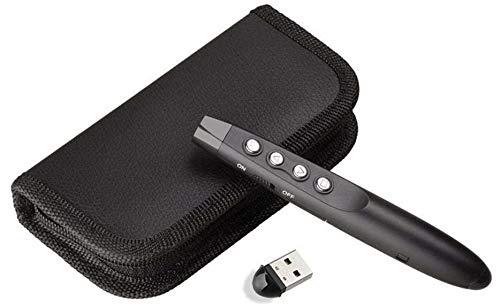 8. TECHTEST, Vtechcom Wireless Remote Control Presenter Changer Laser Pointer for PPT-Slide Presentation (Black) (Presenter)