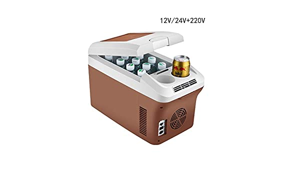 HFJKD Mini refrigerador para Auto Refrigerador del Coche Enfriadores Mini Frigoríficos 15L para Viajes y Picnic ...