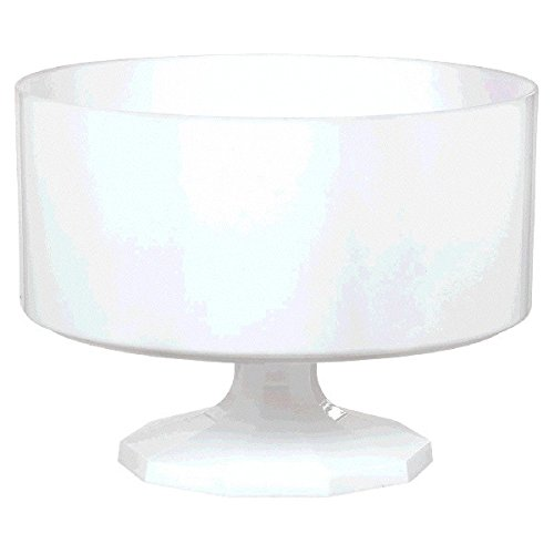 (White Trifle Container, Medium, Party)