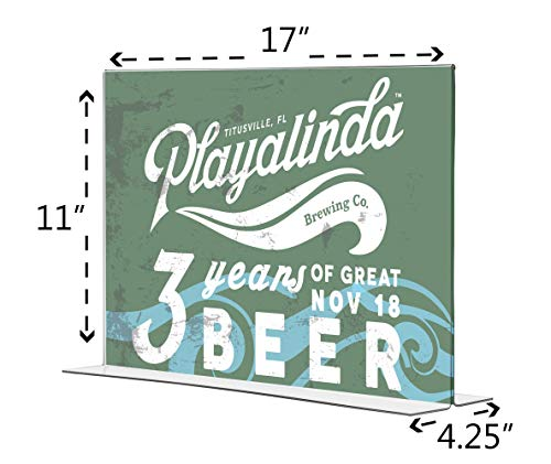 Marketing Holders Tabletop Sign Holder for Posters Advertisements Flyers Informational Sheet Signage Frames Countertop Lucite Picture Frame 17''W x 11''H Bottom Load Pack of 20 by Marketing Holders (Image #2)