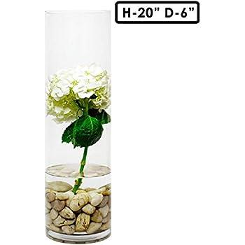 Amazon.com: Modern Vase & Gift Cylinder Vases Zinc Pot with Natural on