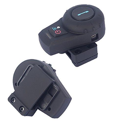 Noir 1 unit/és avec c/âble souple FreedConn FDCVB BT Casque de Moto Helmet Oreillette Bluetooth Motorbike Headset Intercom 500M