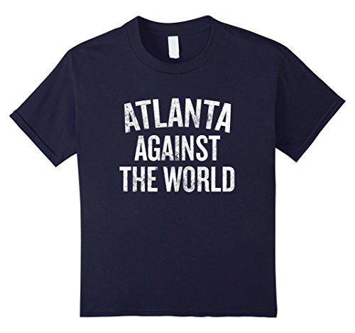 Kids Atlanta Against the World T-shirt Georgia Gift Shirt 8 Navy (Halloween Event In Atlanta)