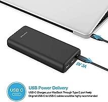 20800mAh Batería Externa Carga rápida con USB C Power Delivery y Quick Charge 3.0 Ultra Capacidad Cargador Portátil Móvil con 3 Salidas y 2 entradas ...