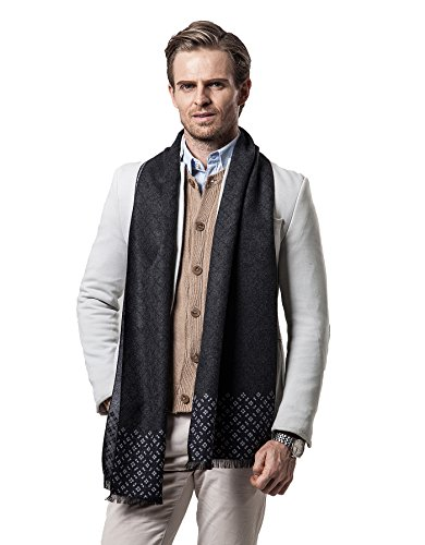 Cashmere Man Scarf Winter Men Scarf Fashion Designer Shawl Bussiness Casual Scarves (Style 1)
