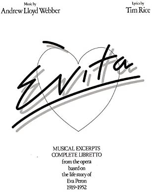 Andrew Lloyd Webber: Evita - Vocal Selections. Partituras para ...