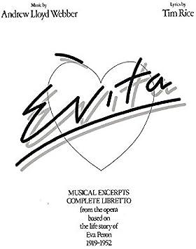 Andrew Lloyd Webber: Evita - Vocal Selections. Partituras para ...