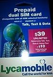 U.S.A Lyca Mobile Prepaid Sim Card $39 Unlimited Talk & Text Data offers