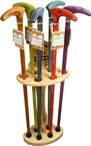 Royal Canes Shell Walking Cane Stand - Pine Wood