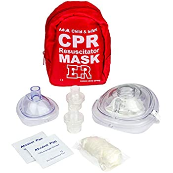Amazon.com: Pack of 5pcs CPR Face Shield Mask Keychain Ring ...