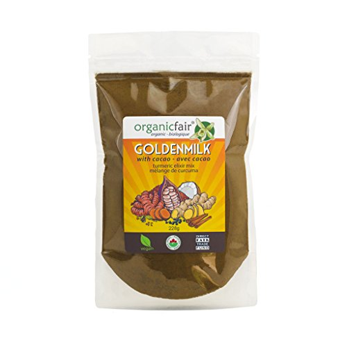 organicfair GOLDENMILK - Turmeric Golden Milk with Cacao - Elixir Mix - 2 Pack