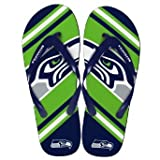 Seattle Seahawks 2013 Official NFL Unisex Flip Flop Beach Shoes Sandals slippers size Medium