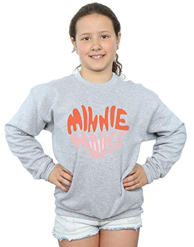 Disney Heart Fille Gris Sport Sweat Shaped shirt Mouse Minnie ttdrq
