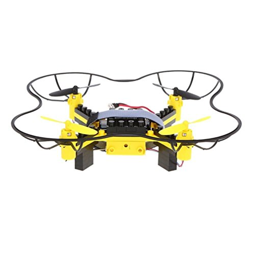 Leegor Flytec T11 Innovative DIY Building Blocks Drone Helicopter 4-channel 6 gyroscope Quadcopter 2.4G Remote Control (yellow) by Leegor