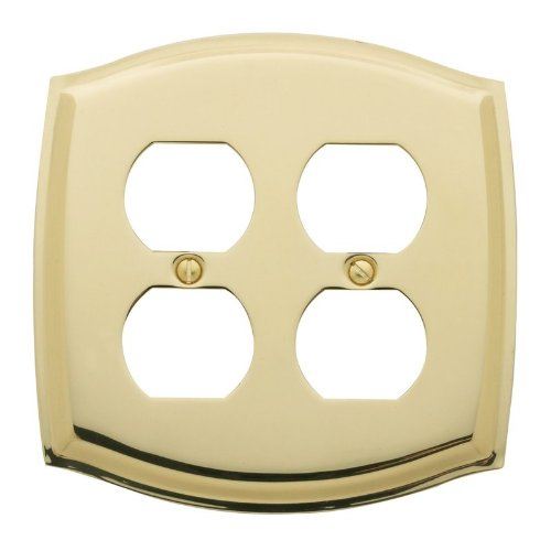 Double Duplex Solid Brass Switchplate - 4781 030 Switch Plate Colonial - Double Duplex