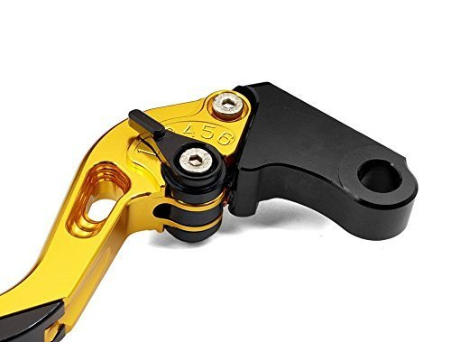 USEX-074 Adjustable CNC Extendable Motorcycle Brake and Clutch Levers for DUCATI ST4S 2003-Gold