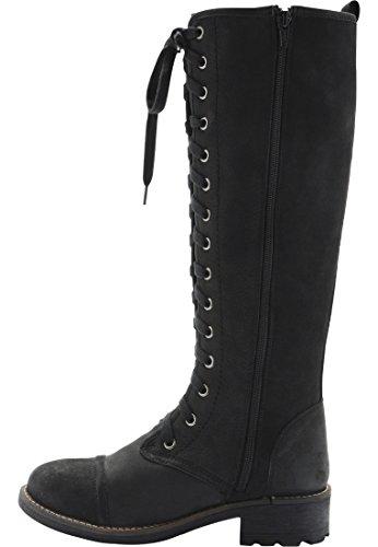 Bianco Damen Long Lace Boot RERUN Schwarz