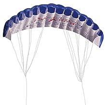 Parafoil Kite, Dual Line Stunt Parafoil Parachute Rainbow Sports Beach Kite (Blue)