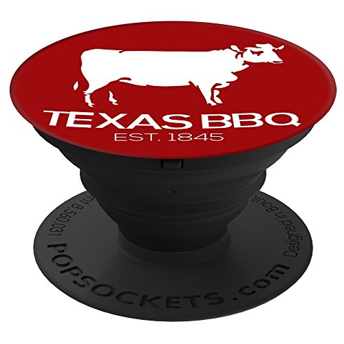 Double C Designs Texas BBQ Red Beef Cow (DCD) PopSockets Stand for Smartphones and Tablets