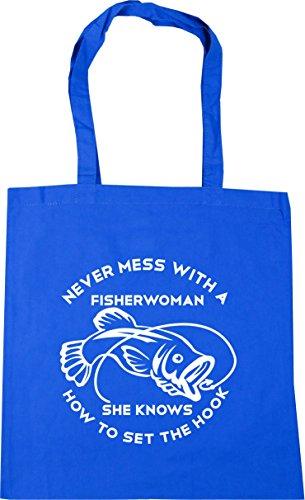 Aciano Hippowarehouse Mujer Playa Algodón Bolsa De Azul Bw1pP4