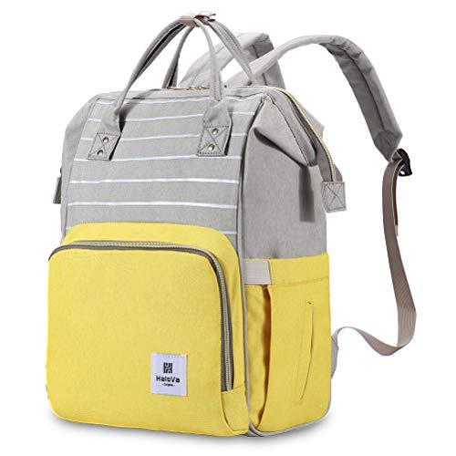 HaloVa Diaper Bag, Baby Nappy Backpack, Maternity Mommy Trav