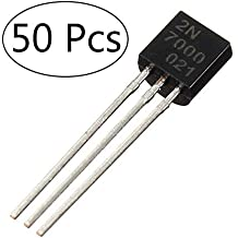 (50 Pcs) MCIGICM 2n7000 n-Channel Mosfet Transistor Assortment 60V 200mA to-92