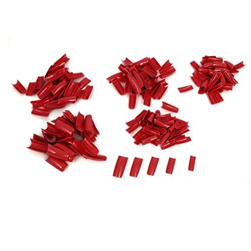 Amazon.com: Plástico bricolaje uñas postizas de la etiqueta del arte pegatinas Consejo Decoración 250 Pcs Red: Health & Personal Care