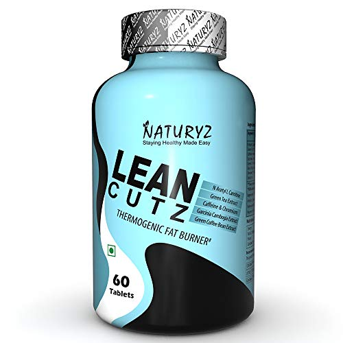 Naturyz LEAN CUTZ Thermogenic Fat Burner with Acetyl L Carnitine, Green tea Extract, Garcinia Cambogia, Green Coffee Bean Extract, Caffeine & Chromium Weight loss product for Men & Women- 60 Tablets