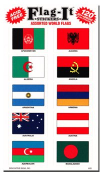 World Nations - Country Stickers (120 Pack)
