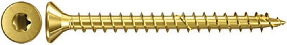 Spanplattenschrauben mit Senkkopf und Teilgewinde 653975 10 St/ück zur Befestigungen von tragenden Bauteilen in Holz gelbverzinkt fischer Power-Fast FPF-SZ 5,0 x 120 YZP 10 B Art.-Nr