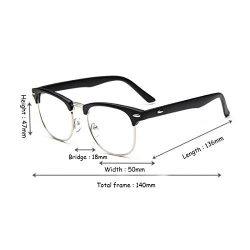 trame Aiweijia grand en lunettes résine Sable Noir lunettes mâle rétro Demi cadre myope femelle lentilles 5rrnqZRw