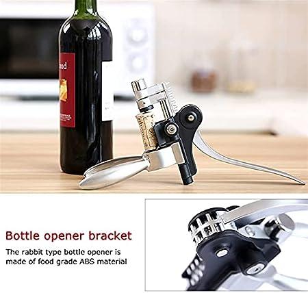 Sacacorchos de Camarero Abridor de Vino Aleación de Zinc Abridor de Botellas de Vino Creativo Sacacorchos en Forma de Conejo Abridores de Botellas de Vino para Uso doméstico Herramientas de Cocina AB