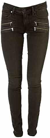 PAIGE Women's Edgemont Double Zip Skinny Jean