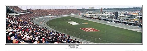 Florida February 15, 1998 Daytona International Speedway - 9.5x27 Panoramic Poster. Frame Dimensions 9.5x27 Deluxe Double Matt with Black Metal Frame #6501