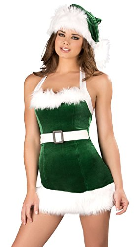 WELVT Girl's Miss Santa Christmas Elf Costumes Suit With Hat Sexy Lingerie Sets6 (Plus Size Sexy Santa Christmas Costume)
