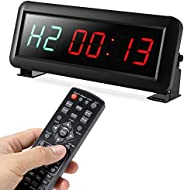 Pellor High Fitness Training Timer Remote Control Gym Indoor Interval Timer Clock for Crossfit, Tabata, EMOM,