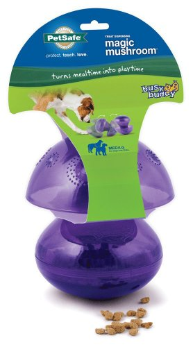 PetSafe Busy Buddy Magic Mushroom Meal Dispensing Dog Toy, Medium/Large (2 Pack)