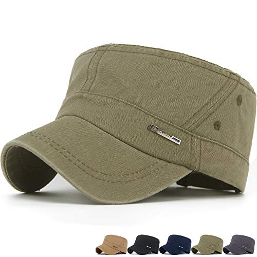 - REDSHARKS Mens XL Cadet Cap Army Cadet Caps Military Cadet Caps Big Size Green