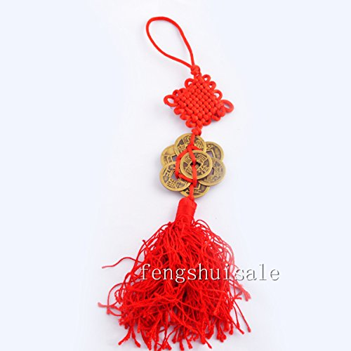 Feng Shui Eight Lucky Charm Brass I Ching Coins Amulet Fortune& Protection+ Free Fengshuisale Red String Bracelet Y1220