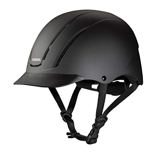 TROXEL Childrens Spirit Safety Horse Riding Helmet ? Low Profile Western Adjustable ? All Styles (Black Duratec, Small) ()