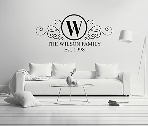 Personalized Name Family - Loft Decoration Premium Design - Mural Wall Decal Sticker For Home Car Laptop