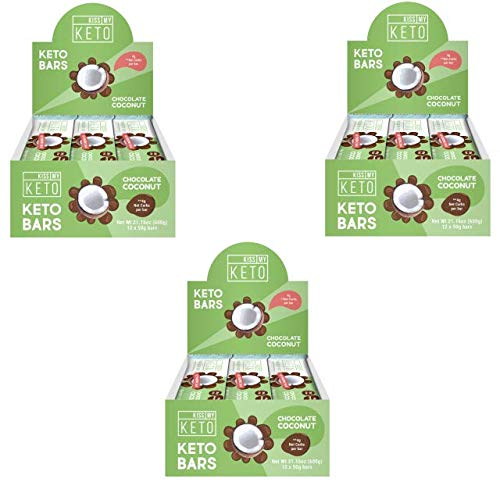 Kiss My Keto Snacks Keto Bars - Keto Chocolate Coconut (3 Pack, 36 Bars), Nutritional Keto Food Bars, Paleo, Low Carb/Glycemic Keto Friendly Foods, All Natural On-The-Go Snacks, 4g Net Carbs by Kiss My Keto (Image #10)