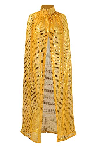 (Ladies Cloaks Full Length Colored Sequins Goddess Cape Halloween Christmas Outerwear)