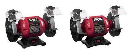 SKIL 3380-01 6-Inch Bench Grinder (2-(Pack)) by Skil