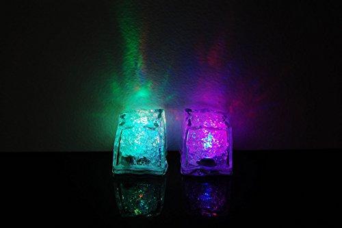 Set of 2 Litecubes Brand 8 Mode MultiColor RAINBOW Light up LED Ice Cubes