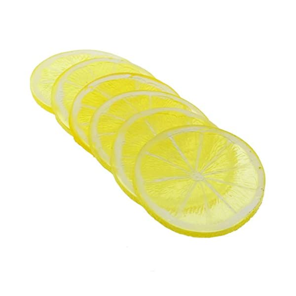 Gresorth-6pcs-Highly-Simulation-Fake-Yellow-Lemon-Slice-Artificial-Fruit-Model-Home-Party-Decoration